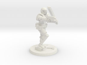 36mm Heavy Armor CC Weapons in White Natural Versatile Plastic