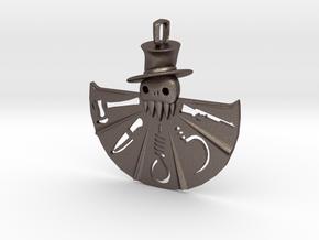 Horror Fan in Polished Bronzed Silver Steel