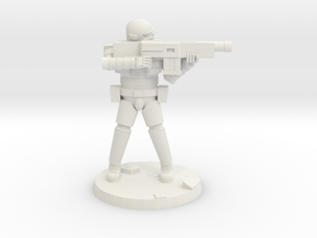 36mm Heavy Armor Trooper 3 in White Natural Versatile Plastic