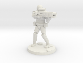 36mm Heavy Armor Trooper 4 in White Natural Versatile Plastic