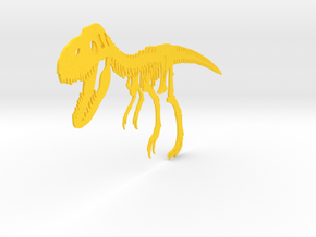 T-Rex in Yellow Strong & Flexible Polished