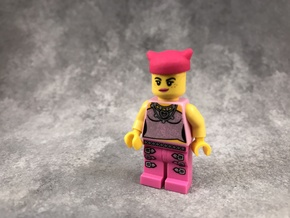 Minifig Pussyhat in Pink Strong & Flexible Polished