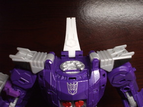 Back Spike Thruster for TR Galvatron in White Strong & Flexible Polished