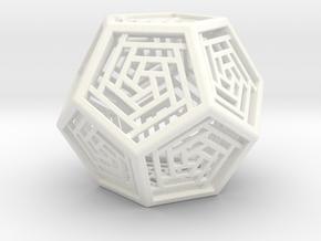 Dodecahedron Lattice in White Processed Versatile Plastic