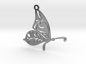 Butterfly42 in Fine Detail Polished Silver