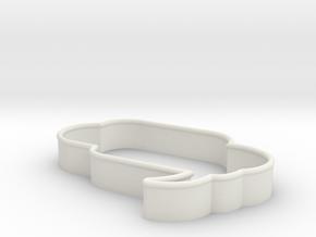 Speech Bubble Cookie Cutter3 in White Natural Versatile Plastic