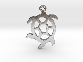 Squirmy Turtle™ Charm in Natural Silver