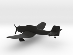 Junkers Ju-87 Stuka in Black Natural Versatile Plastic: 1:144