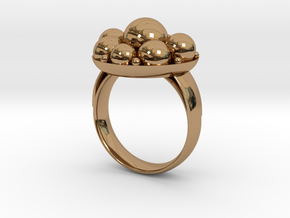 Cooling Massage Ring in Polished Brass: 8 / 56.75