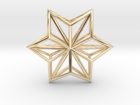 Origami STAR Structure, pendant in 14K Gold