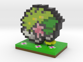 Pokemon Shaymin Pixel Art in Full Color Sandstone