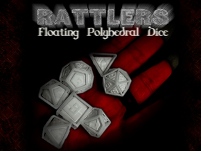 RATTLERS - Floating Polyhedral Dice Set in White Strong & Flexible