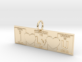 I love You! Geek Love in 14k Gold Plated Brass