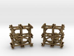 Architecture Cufflinks in Natural Bronze