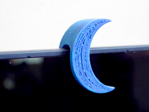 Crescent Moon Webcam Privacy Shade / Cover / Charm in White Natural Versatile Plastic
