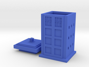 Police Box Tea Infuser in Blue Strong & Flexible Polished