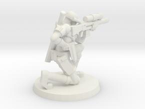 38mm SpecFor Sniper 4 in White Natural Versatile Plastic