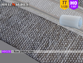 Row paving fine (TT 1:120 - H0 1:87) in Smooth Fine Detail Plastic