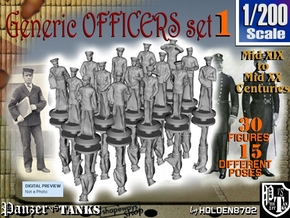 1-200 Generic Naval Officers Set 1 in Smoothest Fine Detail Plastic