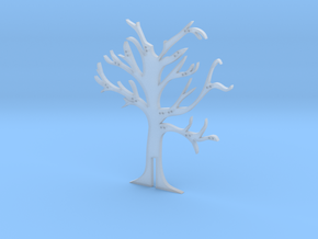 """Holder """"2d-tree-a"""" in Smooth Fine Detail Plastic"""