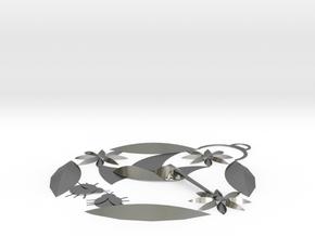 Hummingbird Pendant  in Polished Silver
