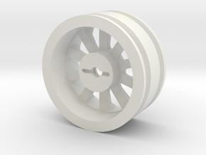 1:10 Cherokee XJ Wagoneer Wheel Pin Mount in White Natural Versatile Plastic