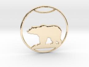 Polar Bear Pendant in 14k Gold Plated Brass: Large