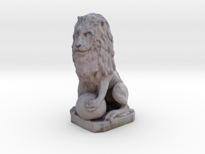 Medici Stone Lion in Full Color Sandstone