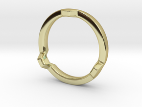 HEX 3 Ring - Slim edition in 18k Gold Plated Brass: 4 / 46.5