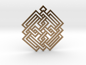 Celtic Knot / Nudo Celta in Natural Brass