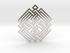Celtic Knot / Nudo Celta in Rhodium Plated Brass