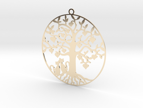 Cats Under A Tree  in 14k Gold Plated Brass