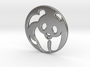 The Panda Pendant in Natural Silver