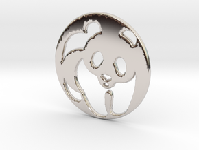 The Panda Pendant in Rhodium Plated Brass
