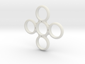 Four Sided Fidget Spinner in White Strong & Flexible