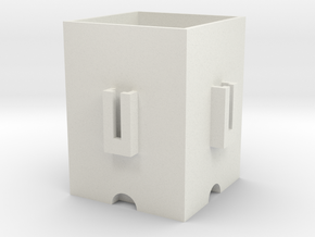 Interconnectable pot in White Natural Versatile Plastic