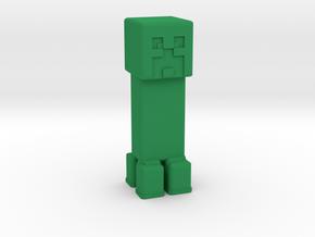 Minecraft Creeper in Green Processed Versatile Plastic: Extra Small