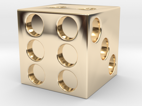 DICE in 14k Gold Plated Brass