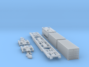 Containertragwagen Sgnss mit 3x 20ft Container in Frosted Ultra Detail