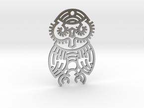 Owl / Búho in Natural Silver