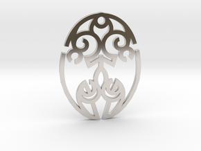 Nature Cosmic Egg / Huevo Cósmico de la Naturaleza in Rhodium Plated Brass
