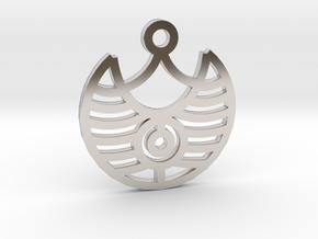 Magic Eye / Ojo Mágico in Rhodium Plated Brass