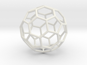 0624 Fullerene c60-ih - Model for the BFI (Bulk) in White Natural Versatile Plastic