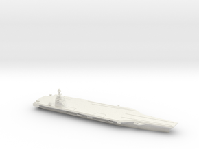 CVN-78 Gerald R. Ford, 1/1250 in White Natural Versatile Plastic