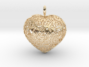 I.S. Pendant in 14k Gold Plated Brass