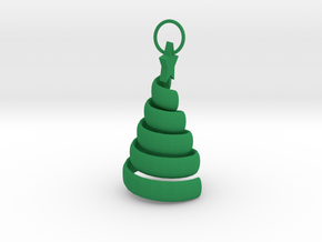 Swirl Tree Pendant in Green Processed Versatile Plastic