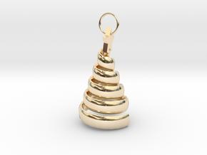 Swirl Tree Pendant in 14K Yellow Gold