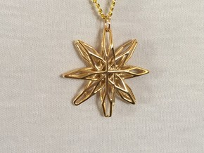 Star Voronoi in 14k Gold Plated