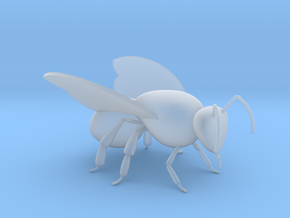 Bee 30mm in Smooth Fine Detail Plastic