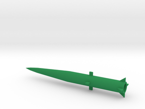 1/200 Scale MGM34 Pershing 1 Missile in Green Processed Versatile Plastic